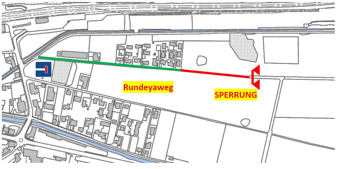 Sperrung Rundeyaweg