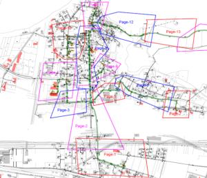 Plan Glasfaser Kabelzug